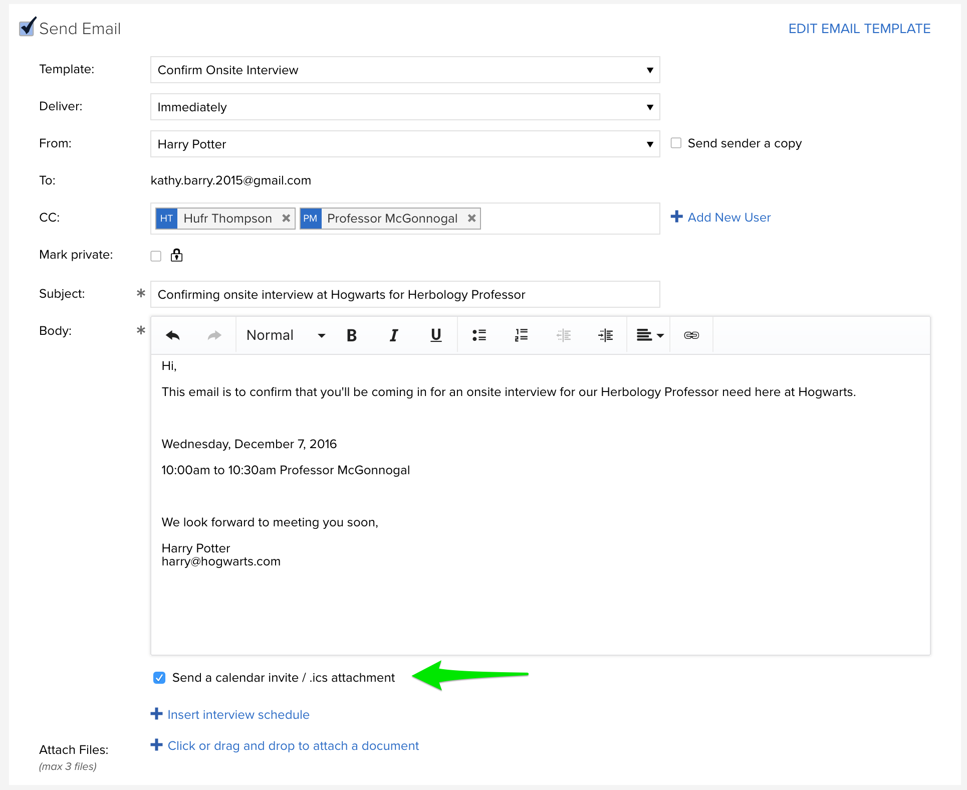 updates what s new in jobscore this means that a calendar invitation will be included in your email this invitation an ics attachment makes it easy for the candidate to add the