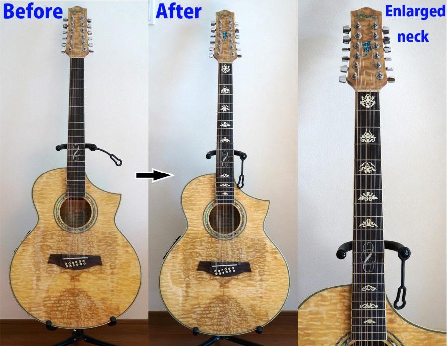 12弦ギター EW2012ASE-NT インレイステッカー
