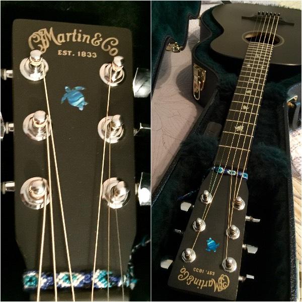 Turtles fret mark on Martin LX-Black