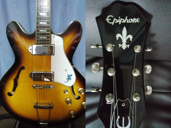 Epiphone Casino Guitar lizard inlay