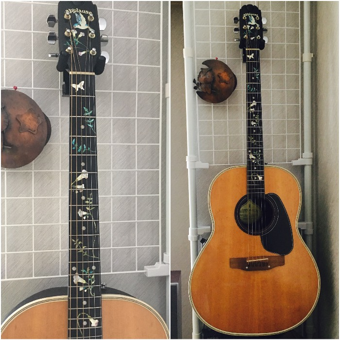 My Ovation Applause AE14-4 with inlay sticker Hummingbird