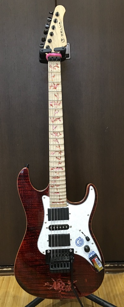 Customized Guitar with inlay sticker