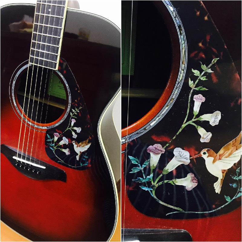 old gibson hummingbird decal for pick guard of acoustic guitar