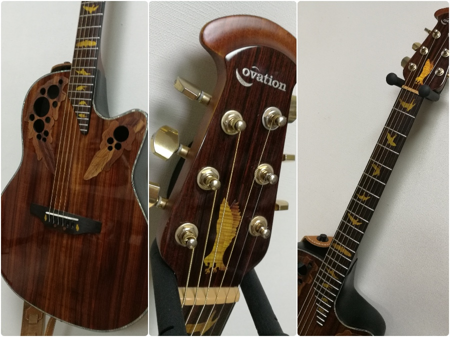 Ovation Celebrity Elite Plus CE44P-PD with bird inlay decal jockomo