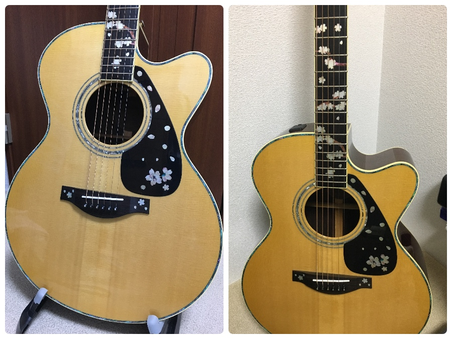 yamaha acoustic guitar sakura inlay