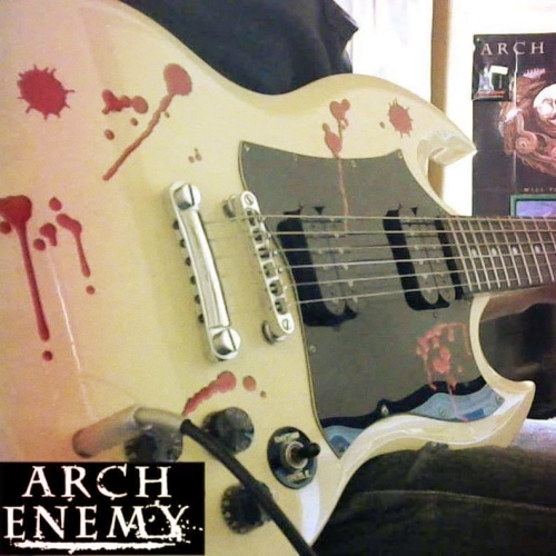 Bloody print decal on epiphone SG