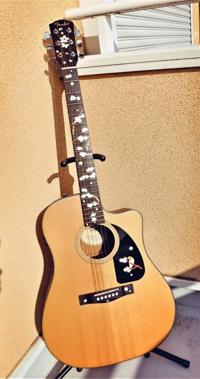 Acoustic Guitar Sakura Inlaysticker