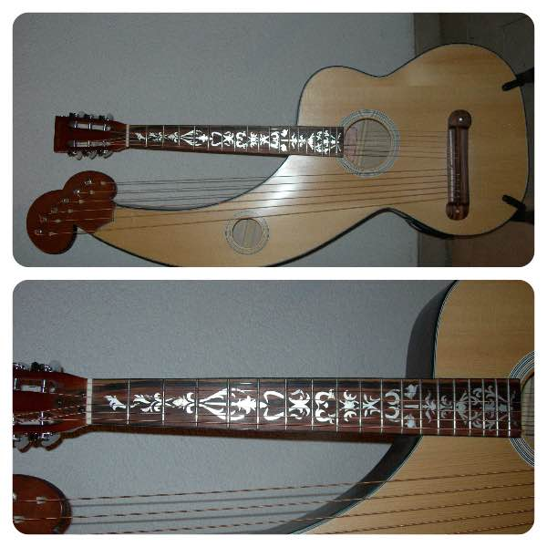 Harp-guitar Vine of Tree Inlaystickers