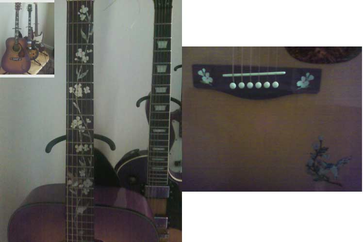 This acoustic guitar is YAMAHA