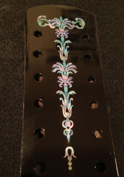 Gothic Torch abalone inlay