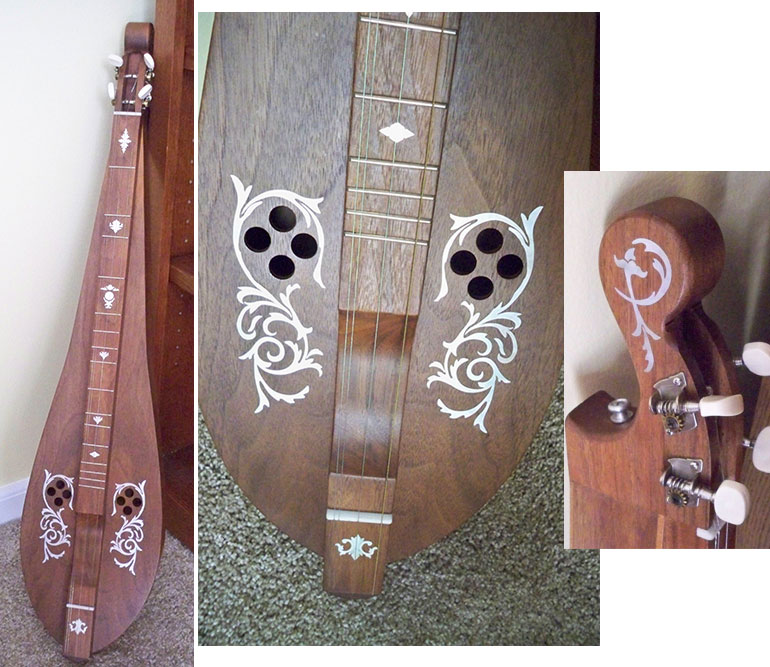 Appalachian dulcimer inlay decal