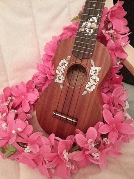 ukuelele Hibiscus inlay