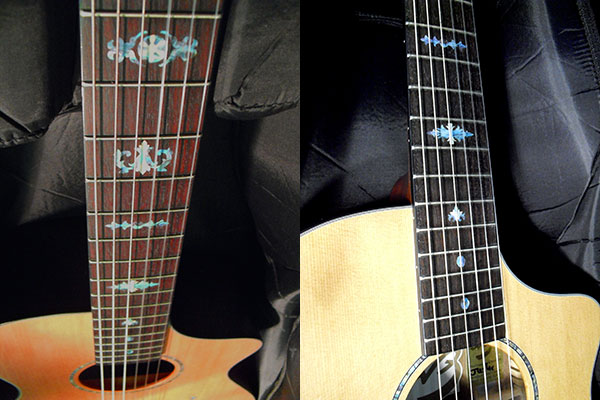 acoustic guitar fret inlay decal