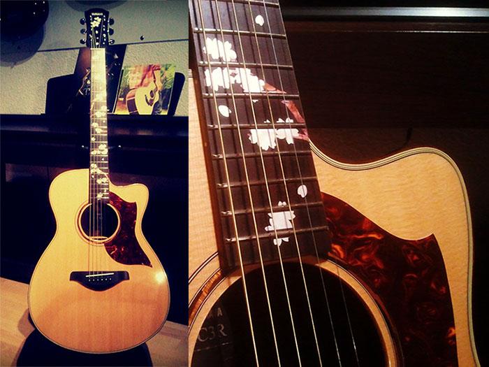 guitar decal inlay sakura Yamaha AC3R