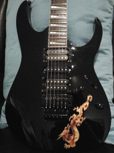 guitar decal inlay dragon