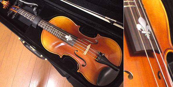フレッティドのヴァイオリン フレデリ インレイ