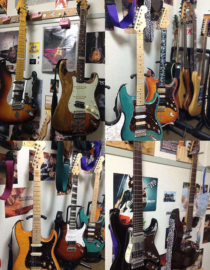 ギター インレイ ステッカー カスタマイズ