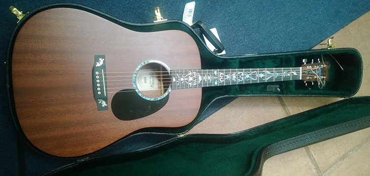 martin DRS1 with Vine Neck Inlay