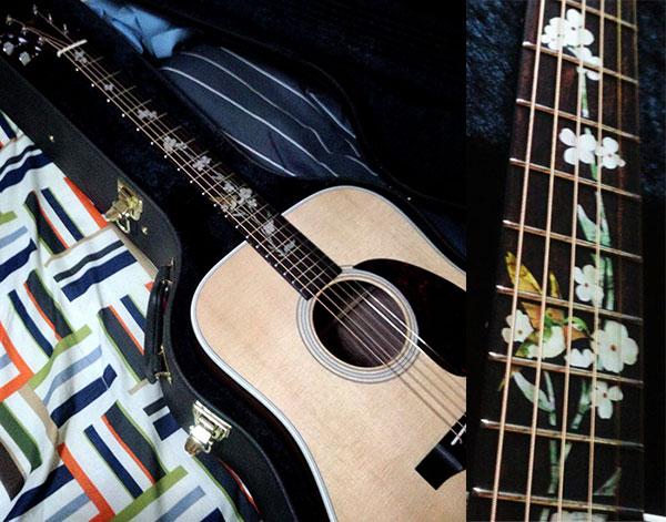 Fret Inlay Flower in K.Yairi Custom Guitar