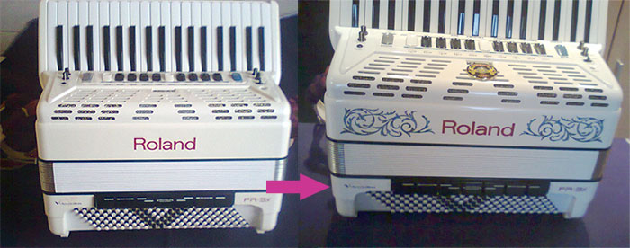 Vine Inlay with Roland FR 3 xs accordion