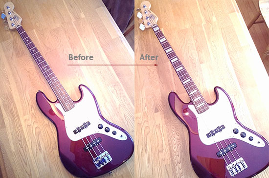 Fender Jazz neck block inlay