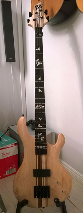 Bird Inlay Bass guitar