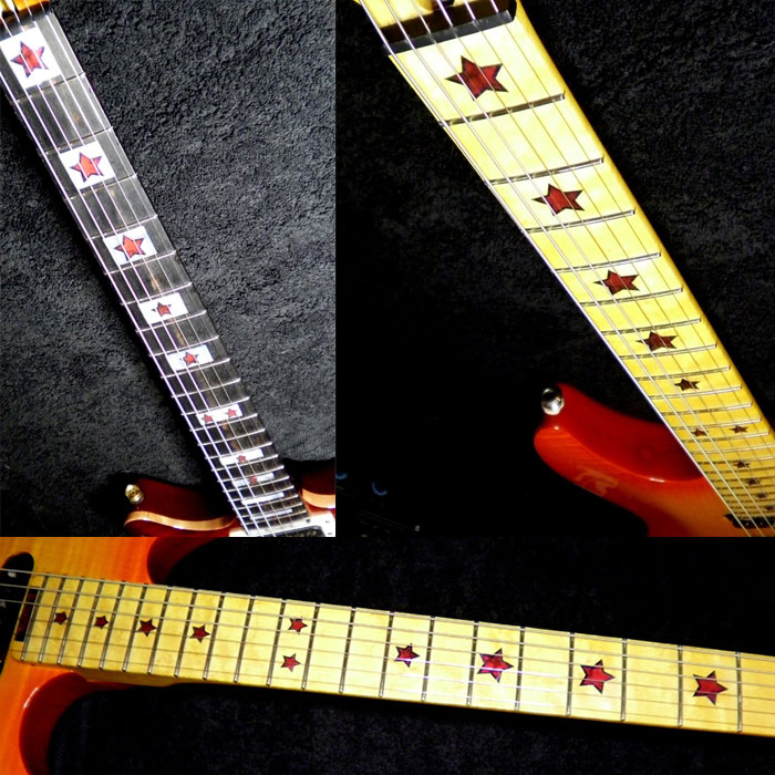 RED CORAL Inlay decal for Maple neck
