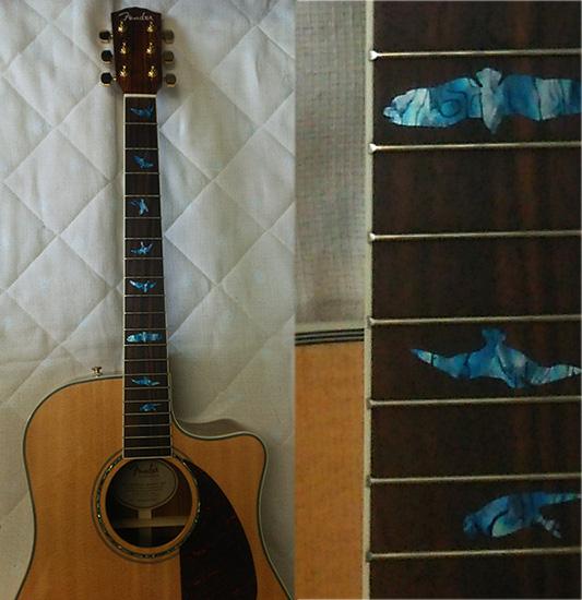 Fender シングルカッタウェイのアコギ