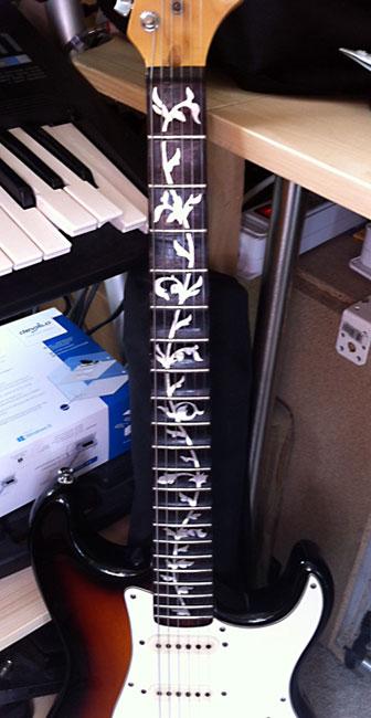 Stratocaster scalloped guitar