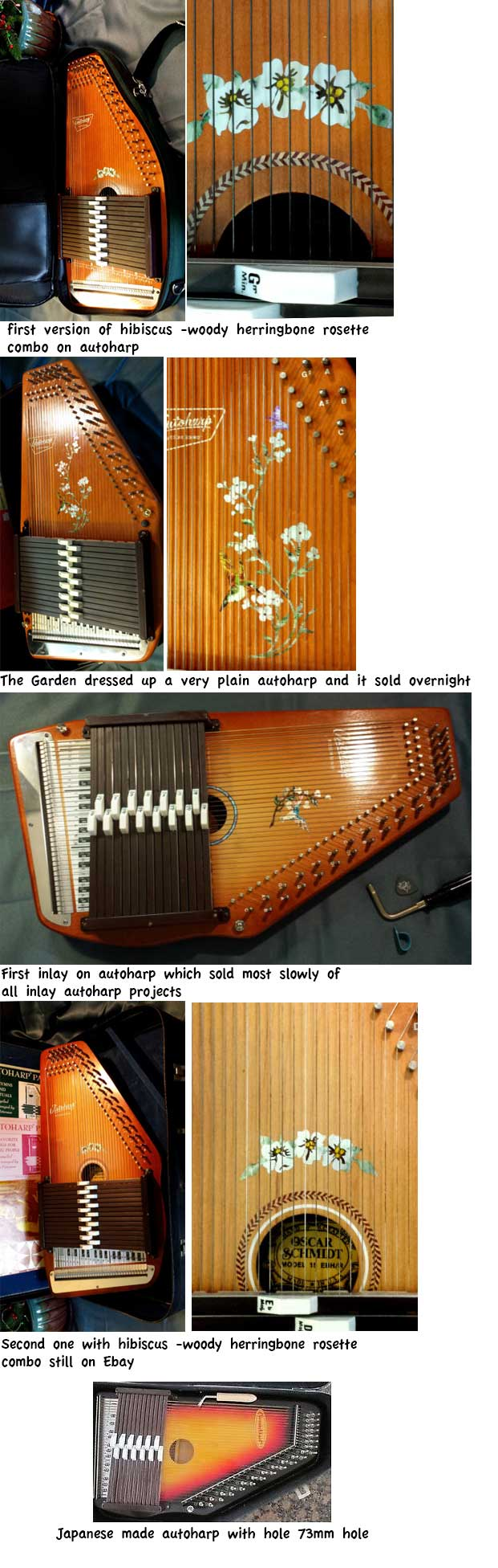 autoharp inlay sticker