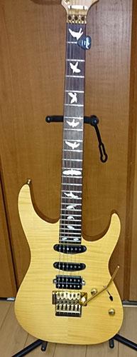 バード ギター インレイ