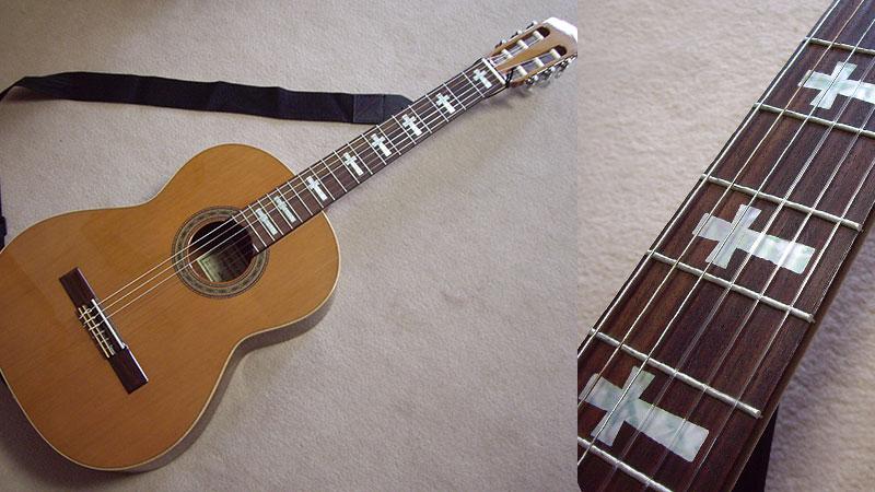 クラシックギター クロス ポジションマーク