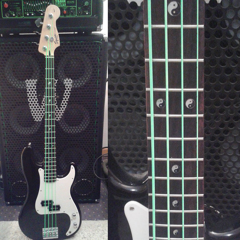 Yin & Yang Inlay Decal on Bass