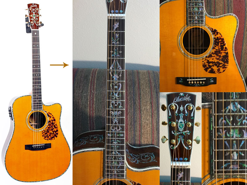 Taylor guitar decoration with inlay stickers