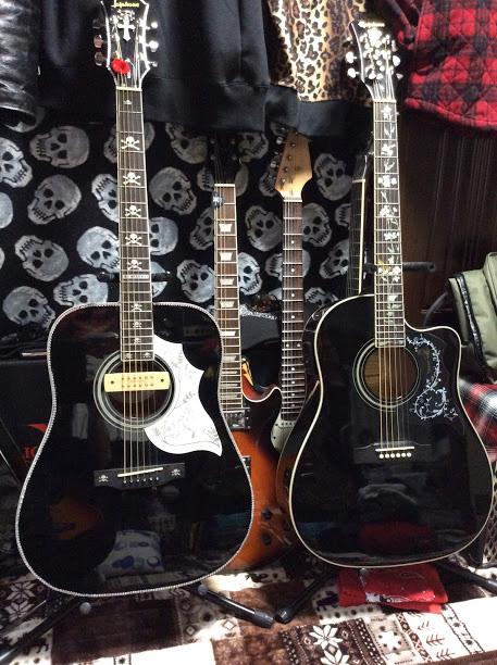 skull inlay decal guitar