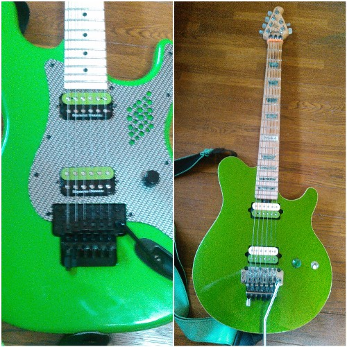 Charvel  pro-mod guitar with Duncan Green Humbleker Decal