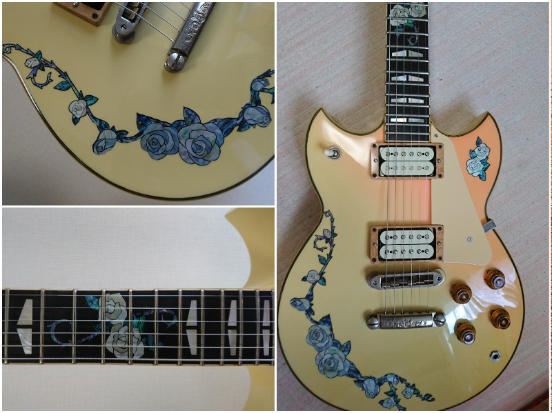 YAMAHA SG with Rose Inlay Decal