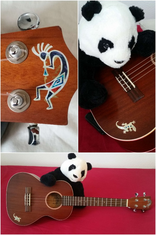 My ukulele with Kokopelli inlay decals by jockomo