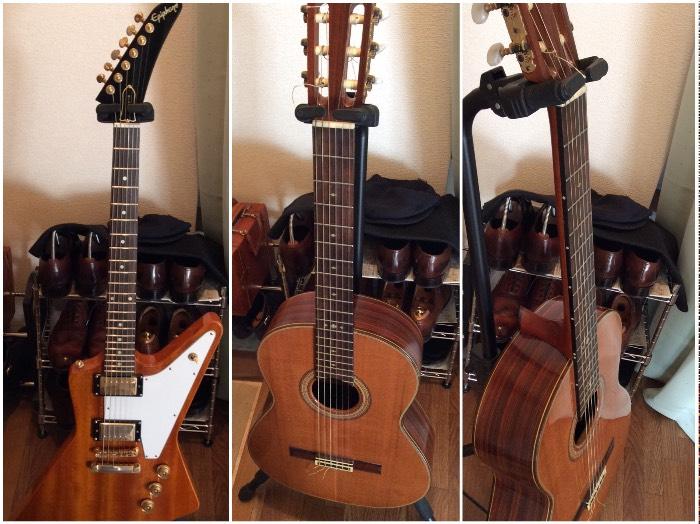 エクスプローラー ナイロンギターにインレイステッカー