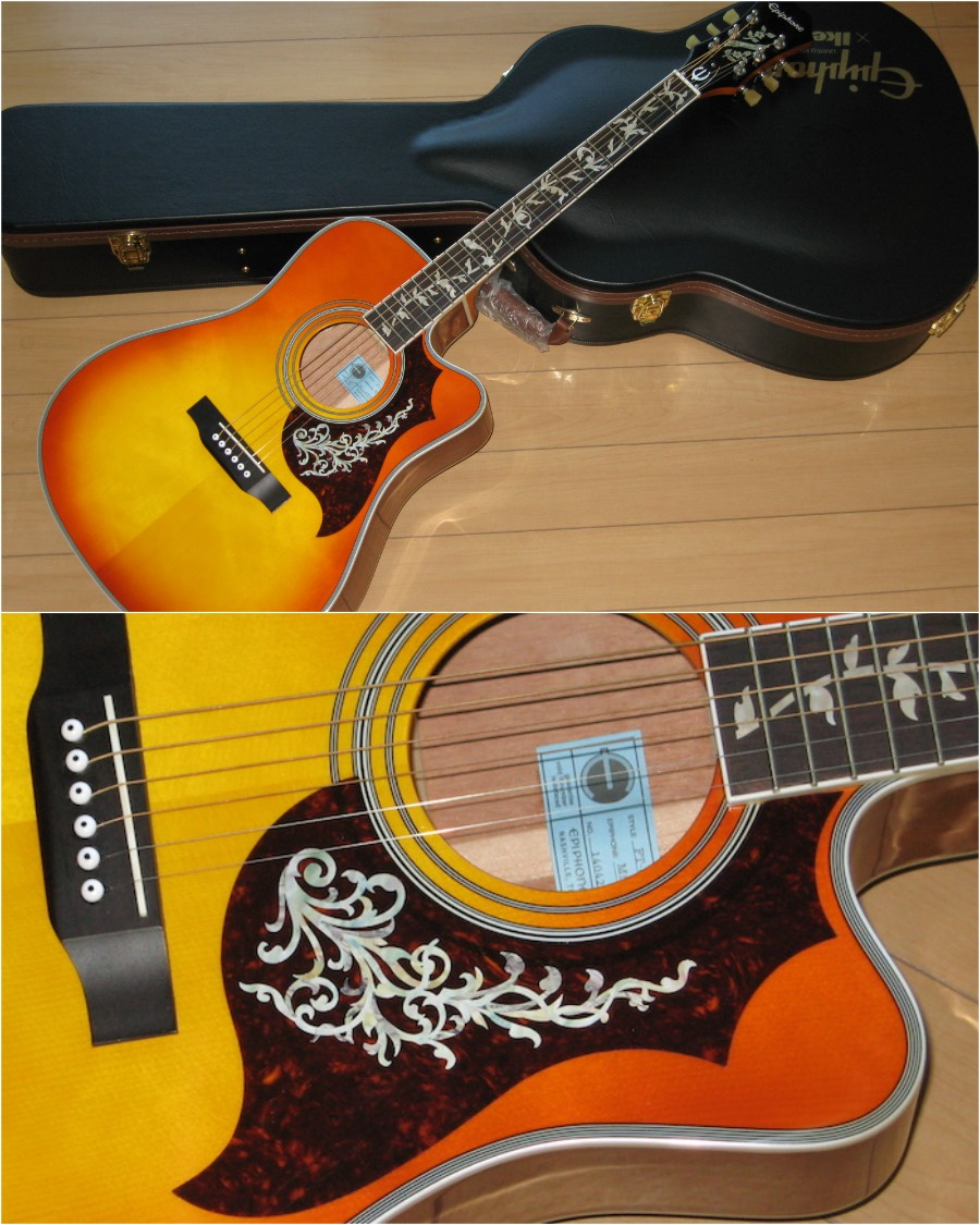 Epiphone AJ with Inlay Sticker Tree Of Life
