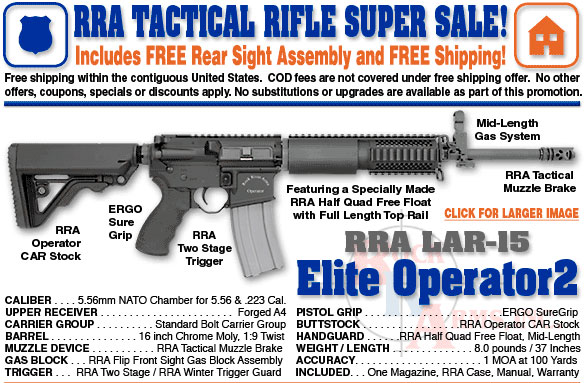 Spike's Upper Receivers, Rock River AR-15's, and Springfield XDS magazines In Stock - Sponsor Display