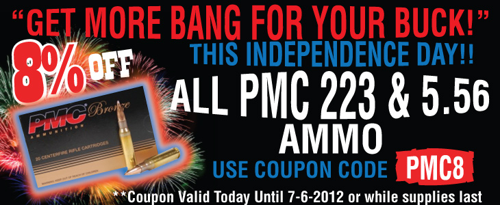 PMC 223/556 Ammo Sale, Spike's Stripped Uppers and Lowers In-Bound - Sponsor Display