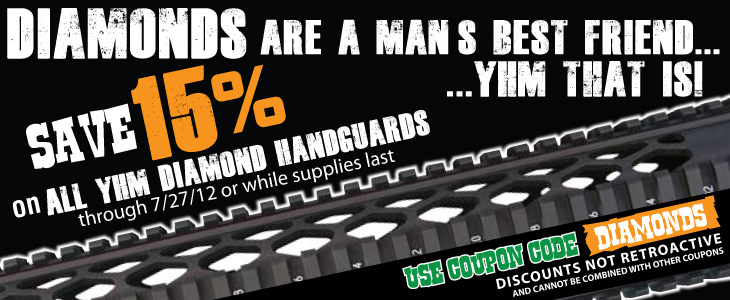 YHM Diamond Handguard sale, CMMG LPK sale, & Blade-Tech Now In Stock! - Sponsor Display
