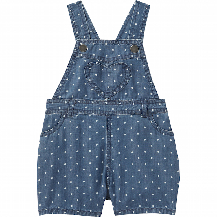 Baby Girls Denim Overalls
