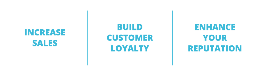 Increase sales, build customer loyalty, enhance your reputation