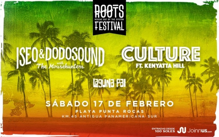 ROOTS FESTIVAL: ISEO & DODOSOUND Y CULTURE FT. KENYATTA HILL / Entretenimiento / Joinnus