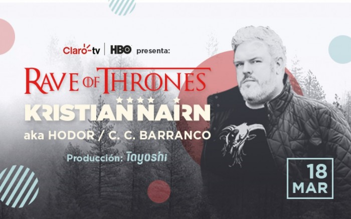 Rave of Thrones: Kristian Nairn en Lima /  / Joinnus