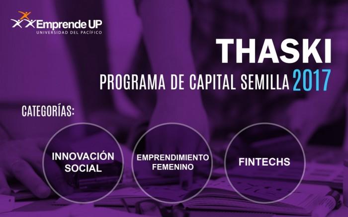 Thaski: Programa de Capital Semilla 2017 / Charlas y conferencias / Joinnus
