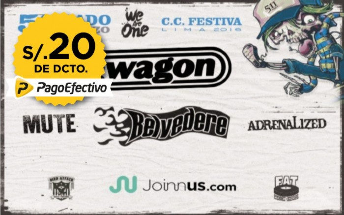 We Are One Tour @Lima Lagwagon, Belvedere, Mute, Adrenalized /  / Joinnus