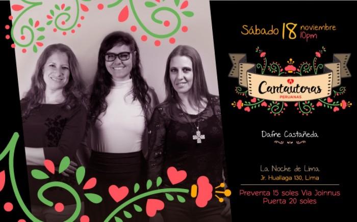 Cantautoras Peruanas en La Noche de Lima / Conciertos / Joinnus